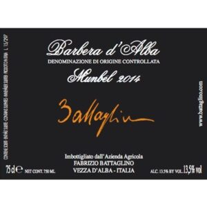 Etichetta Barbera d'Alba DOC 2014 Colla - Battaglino