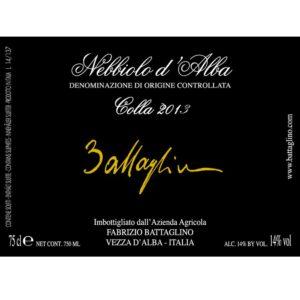 Etichetta Nebbiolo d'Alba DOC 2013 Colla - Battaglino