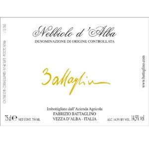 Etichetta Nebbiolo d'Alba DOC 2014 - Battaglino