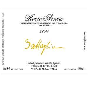 Etichetta Roero Arneis DOCG 2014 - Battaglino