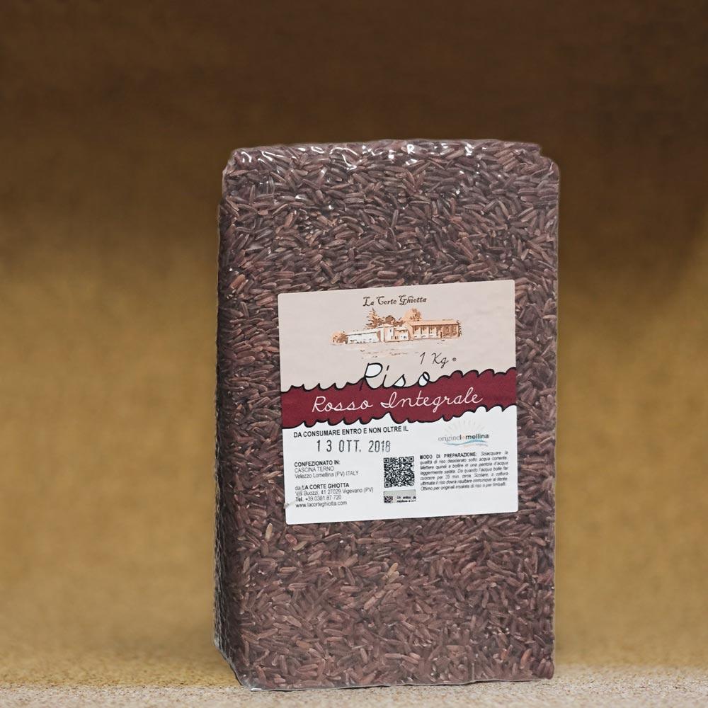 riso rosso integrale 1 kg la corte ghiotta