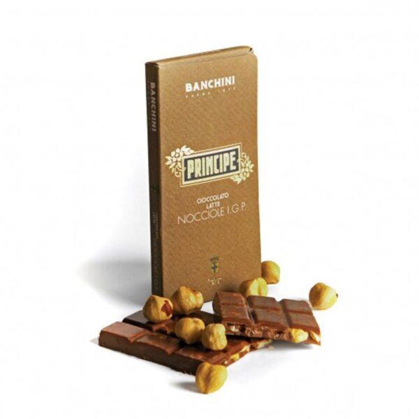 Cioccolato Principe al Latte con Nocciole IGP - Banchini