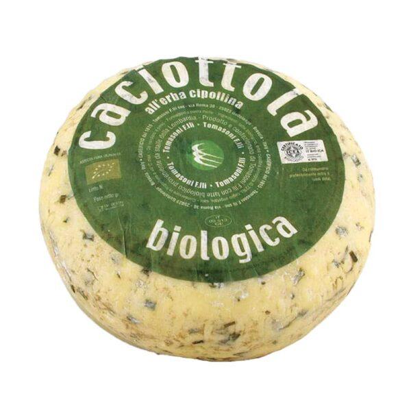 Caciotta con Erba Cipollina Biologica - Caseificio Tomasoni