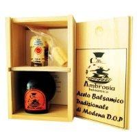 confezione aceto balsamico di modena dop cofanetto in legno