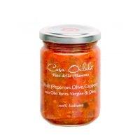 Patè Peperoni, Olive, Capperi con Olio Extravergine di Oliva - 140 g - Oilalà